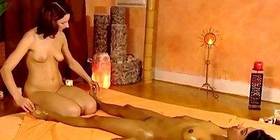 women behaving erotic massage