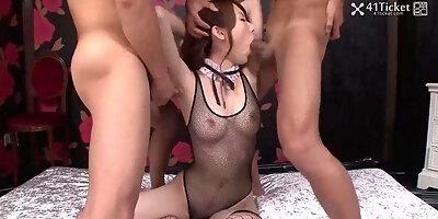 yui hatano fucks two in lingerie uncensored jav