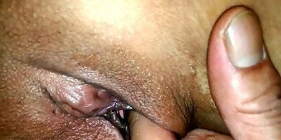 asian wife close up pussy play