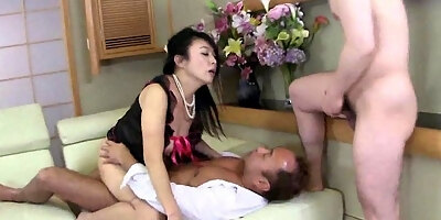 chinese footjob in the car