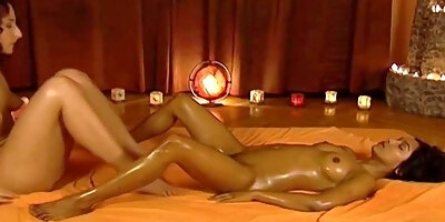 exotic massage from brunette babes