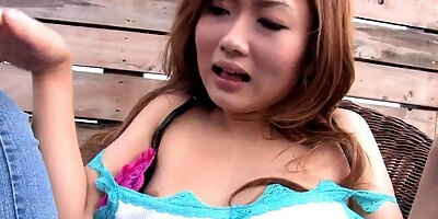 japanese babe gets dildoed