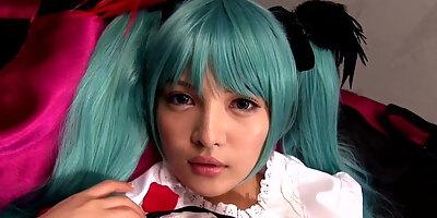 japanese cosplay babe mitsune haku cockriding
