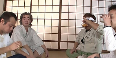 tied up teen blows them all then gets a cream filled pussy nipponhairy