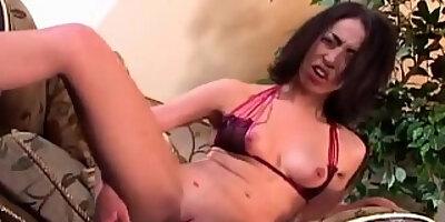 sexy veronica jett cums on a glass dildo