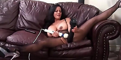 asian wife maxine x blows dick while riding a vibrating sybian and squirts