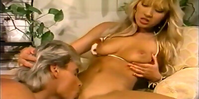 cute blonde kascha getting plowed from above