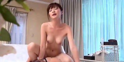 hot asian milf in raunchy hand job session indoors