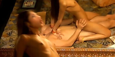 she rides his big indian dick to orgasm